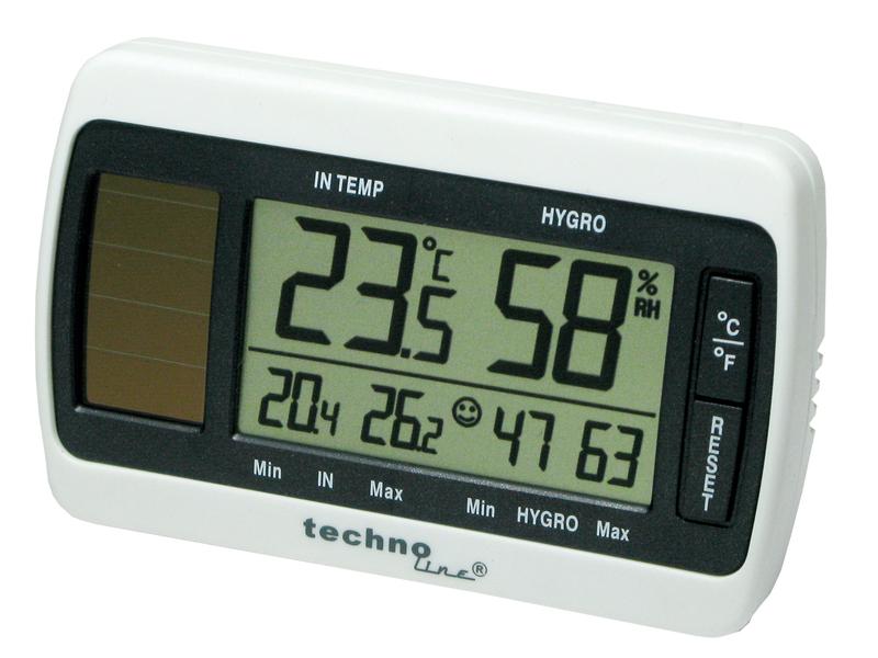 Thermometer/Hygrometer, mit MIN/MAX Speicher, weiß-grau