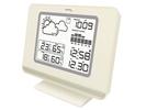 Wetterstation mit Wettertrendanzeige, LCD-Beleuchtung, weiß-silber