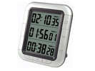 Digitaler Kurzzeitwecker, Kurzeitmesser 3 x Countdown-Timer, silber