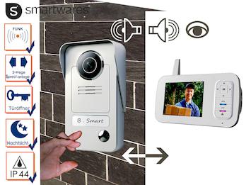 Drahtlos Video Türsprechanlage mit tragbarem 3,5'' Bildschirm, Gegensprechanlage
