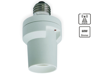Funk-Dimmer für E27-Fassungen, fernbedienbare, dimmbare Lampen bis 60 Watt