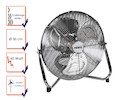 Bodenventilator, Windmaschine, Ventilator, Lüfter, 45W, Ø 30cm, 3 Stufen,