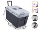 Große thermoelektrische Kühlbox mit Trolley Ausstattung 40 Liter, 12V / 230V