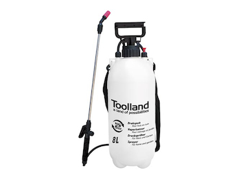 Drucksprühgerät zum Pumpen, Gartenspritze Toolland, 8 Liter Fassungsvermögen
