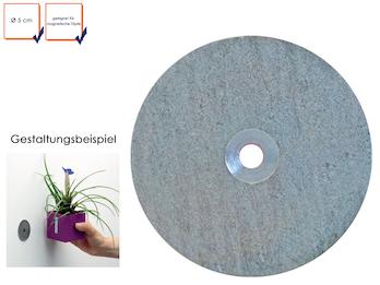Metallscheibe galvanisiert - für Magnetische Töpfe, Ø 5 cm, Wandaufbewahrung