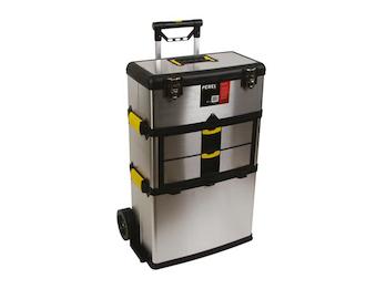 Werkzeugtrolley, rostfreier Stahl, Belastbarkeit 36 kg, Höhe 83 cm
