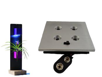 LED4 Beleuchtung -für Magnetische Töpfe Würfel Ø 6 cm, 4 LEDs Batteriebetrieb