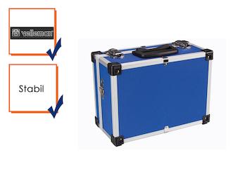 Werkzeugkoffer Werkzeugkiste Werkzeugkasten Aluminum Case 32x23x15,5cm blau