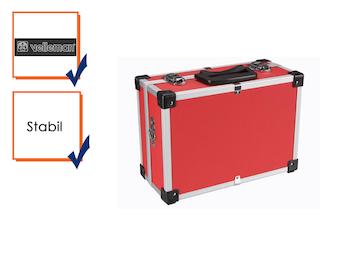 Werkzeugkoffer Werkzeugkiste Werkzeugkasten Aluminum Case 32x23x15,5cm rot