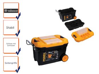 Werkzeugtrolley, Werkzeugkasten, Werkzeugkoffer Trolley, Kunststoff, Höhe 42 cm
