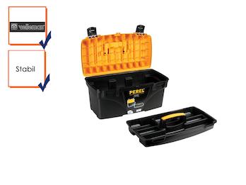 Werkzeugkiste, Werkzeugkasten, Werkzeugkoffer, Kunststoff, 535 x 275 x 280 mm
