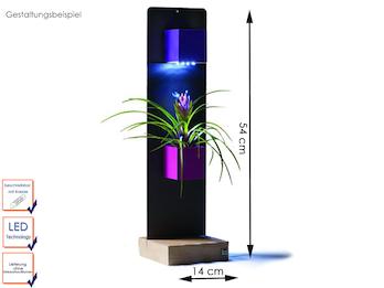 Set Magnettafel anthrazit inkl. 2 magnetischen Töpfen Würfel und LED-Beleuchtung