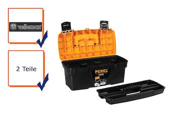 Werkzeugkiste, Werkzeugkasten, Kunststoff, mit Ablagefach 432 x 250 x 238 mm