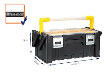 Werkzeugkiste, Werkzeugkasten, Polypropylene, abnehmbare Fächer, 45,5x24x20cm