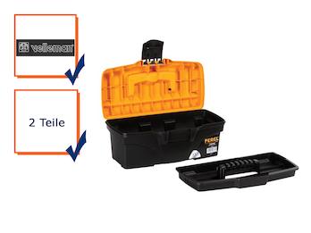Werkzeugkiste, Werkzeugkasten, Kunststoff, mit Ablagefach 31,6 x 15,2 x 13 cm