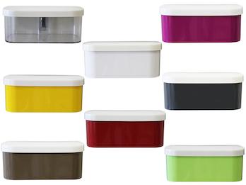 Magnetischer Topf für Wandaufbewahrung, Form Kasten mit Deckel, Magnet abnehmbar