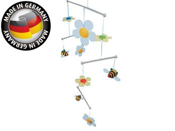 Fröhliches Mobile aus Holz, Blumen & Bienen, Made in Germany, Mobile SUM-SUM