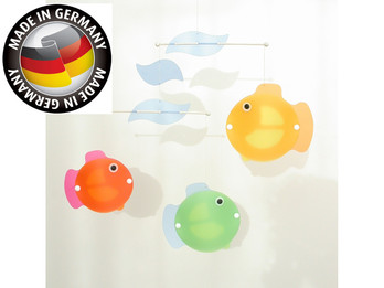 Buntes Mobile aus Holz & Folie, süße Fische, Made in Germany, Mobile FISCHE