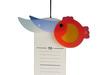 Verspielte Messlatte aus Holz, Made in Germany, 70-150cm, Design FISCHE