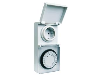 Mechanische Zeitschaltuhr für Außenbereich mit Tagesprogramm