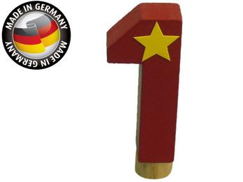 Geburtstagszahl aus Holz, passend für Niermann-Dekoartikel, Happy-Zahl 1