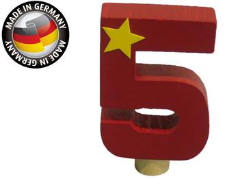 Geburtstagszahl aus Holz, passend für Niermann-Dekoartikel, Happy-Zahl 5