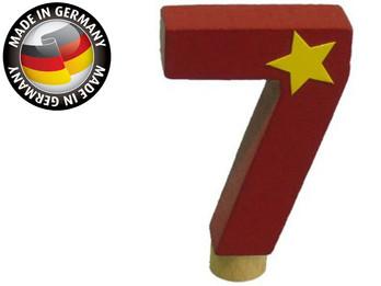 Geburtstagszahl aus Holz, passend für Niermann-Dekoartikel, Happy-Zahl 7