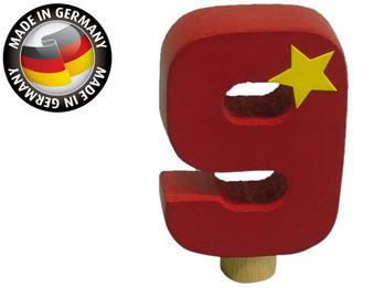 Geburtstagszahl aus Holz, passend für Niermann-Dekoartikel, Happy-Zahl 9