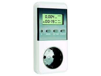 Plug-in-Energiekosten-Meßgerät, Höchst/Tiefstwerte, Stromkostenberechnung