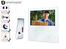 Video Türsprechanlage mit Farb Touchscreen, Gegensprechanlage 1 Familienhaus