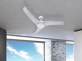 Deckenventilator PRIMO Weiß Licht & Fernbedienung, Ø132cm