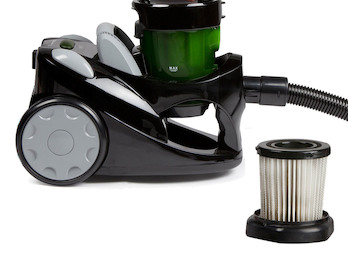 Zyklonen-Staubsauger, beutellos, schwarz, 700W, inkl. Zusatz-HEPA-Filter-Set
