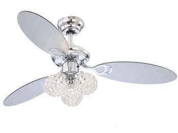 Deckenventilator AZALEA, Licht & Zugschalter, Flügel Silber/Graphit