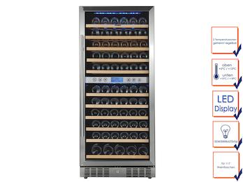 Profi Weinkühlschrank, 117 Flaschen,  2 Zonen, 5-10° C und 10-18° C