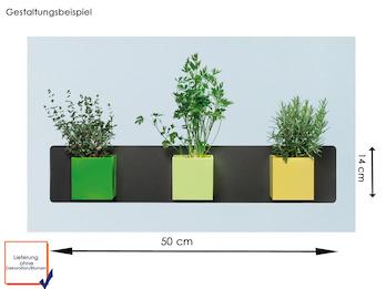 Set Magnettafel Anthrazit mit 3 Töpfen Würfel Ø 9 cm Grün, Gelb und Limegrün