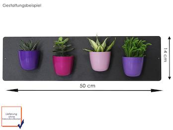 Set Magnettafel Anthrazit 14 x 50 cm mit 4 magnetischen Töpfen Mini Kugel Ø 6cm