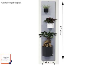 Set Magnettafel silber 14 x 70 cm mit drei verschiedenen magnetischen Töpfen