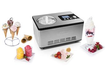 Eismaschine DELUXE mit Kompressor für 2 Liter leckeres Eis - 180 Watt