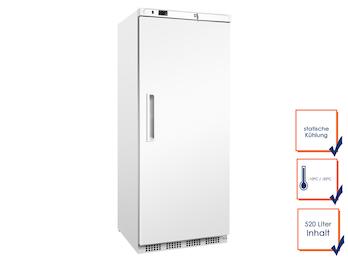 Profi Gefrierschrank, 520 Liter, -10/-25° C, statische Kühlung, abschließbar