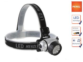 LED Stirnlampe / Kopflampe extra hell für Wandern, Trekking, Camping, Outdoor