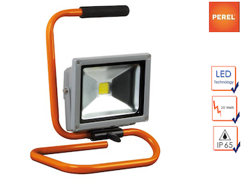 Tragbarer Baustrahler LED Fluter Arbeitsscheinwerfer 20W mit 1,5m Kabel