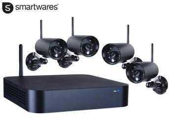4-Kanal Wireless Kamera Sicherheitssystem, drahtloser DVR, inkl. 8 GB SD Karte