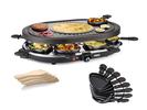 RACLETTE für 8 Personen Parygrill, Grillplatte oval mit Crêpefläche 1200 Watt