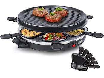 Raclette und Grill-Set für 6 Personen, 800 Watt, Antihaftbeschichtung