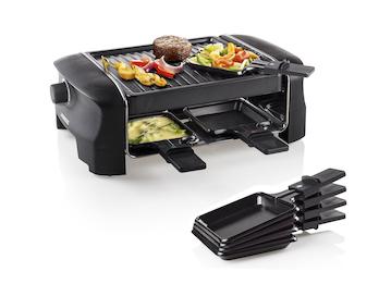 Raclette Partygrill für 4 Personen, 600 Watt, Antihaftbeschichtung