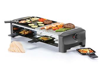 Raclette Partygrill für 8 Personen, 1300 Watt, Antihaftbeschichtung