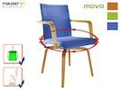 Funktionsstuhl 360 Grad drehbar f. eigenständige Mobilität von Pflegebedürftigen