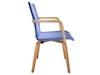 Armlehenstuhl / Esszimmerstuhl Stoffbezug blau passend zur Serie MOVO