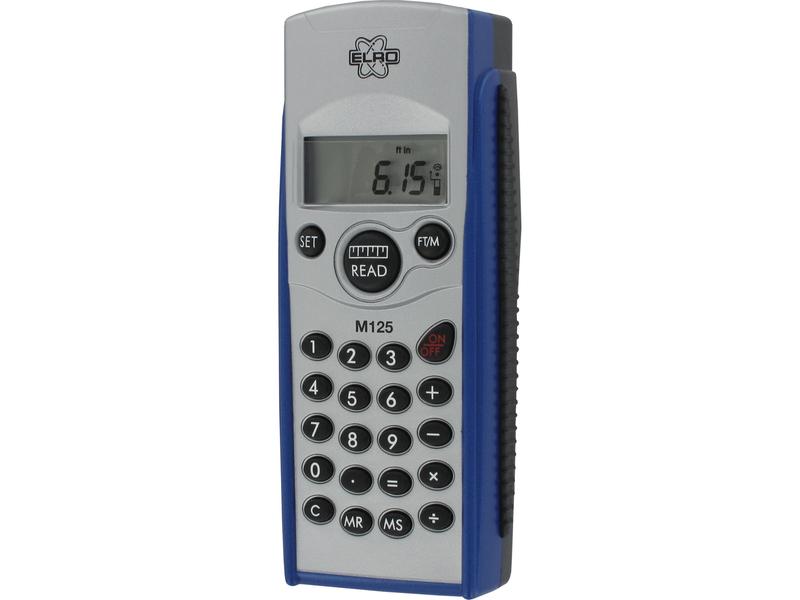 Laser-Entfernungsmesser bis 12m, integr. Taschenrechner, internem Speicher