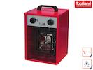 Bauheizer Heizstrahler 2 Stufen, Ventilatorfunktion, Thermostat, 3300W IPX4 230V
